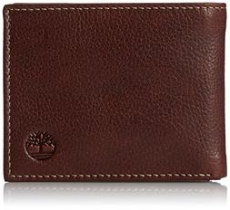 Timberland Men's Passcase Wallet Pebble Grain Leather Flip I
