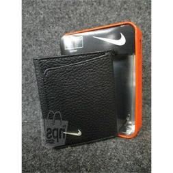 Nike Men's $45.00 Trifold Pebbled Leather Black Wallet 6 Car