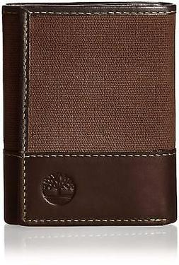 Timberland Men's Baseline Canvas and Genuine Leather Trifold