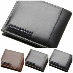 Tommy Hilfiger Men's Bifold Leather Passcase Designer Wallet