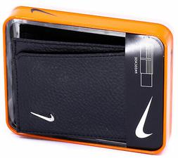 NIKE Men's Bifold Passcase Pebbled Leather Wallet Billfold
