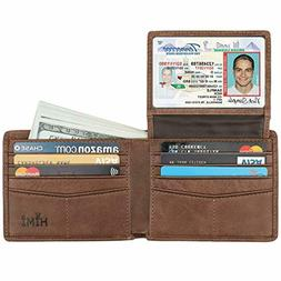 men s bifold wallet leather soft stylish