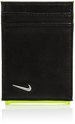 Nike Men's Blocked Front Pocket Wallet w/Magnetic Money Clip