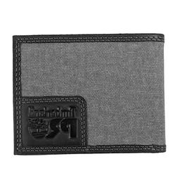 Timberland PRO Men's Canvas Leather RFID Billfold Wallet wit