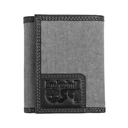 Timberland PRO Men's Canvas Leather RFID Trifold Wallet with