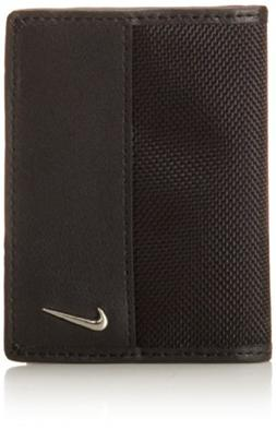 Nike Men's Classic Credit Card Wallet with Money Clip, Black