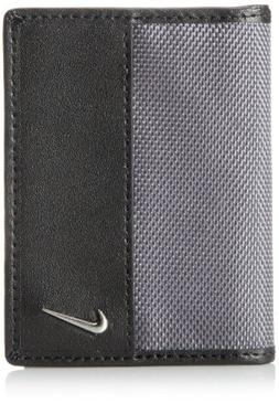 Nike Men's Classic Credit Card Wallet with Money Clip, Grey,