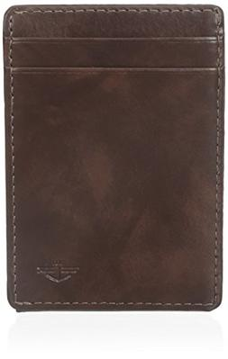 Dockers  Men's  Front Pocket Wallet,Brown Magnetic