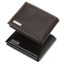 Tommy Hilfiger Men's Genuine Leather Bifold Wallet with Vale
