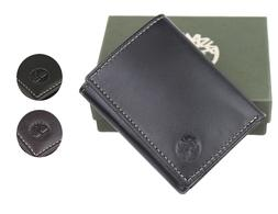 Timberland Men's Genuine Leather Passcase Credit Card Id Tri