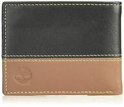 Timberland Men's Hunter Leather Passcase Wallet Trifold Wall