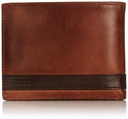 Fossil Men's Large Coin Pocket Bifold, Brown, One Size
