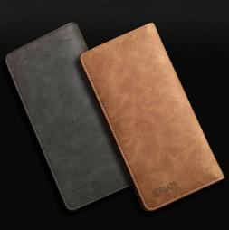 Men's Leather Bifold Credit ID Card Holder Suit Wallet Purse