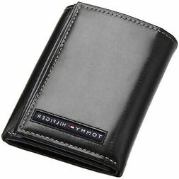 Tommy Hilfiger Mens Leather Trifold Wallet with Removal Card