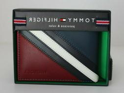 Tommy Hilfiger Men's Leather Passcase and Valet Bifold Walle