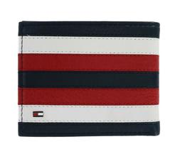 Tommy Hilfiger Men's Leather RFID Blocking  Bifold Wallet Na