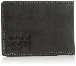 Timberland PRO Men's Leather RFID Wallet with Removable Flip