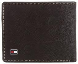 Tommy Hilfiger  Men's  Leather Slim Billfold Wallet,Brown