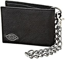 Dickies Men's Leather Slimfold Wallet With Chain