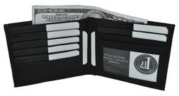 Men's Leather Wallet Multi Card High Capacity Compact Bifold