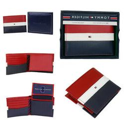 Tommy Hilfiger Men's Leather Wallet Passcase & Valet Billfol