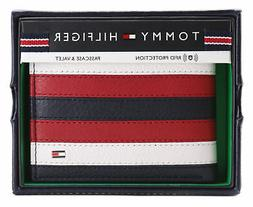 Tommy Hilfiger Men's Leather Wallet Passcase Billfold RFID N