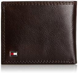 men s leather wallet sleek and thin