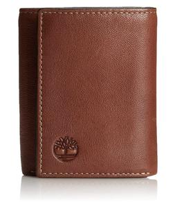 Timberland Men's Leather Wallet TriFolds in Black, Brown & T