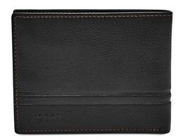 FOSSIL MEN'S LEATHER WATTS BIFOLD WALLET FLIP ID NEW WITH TI