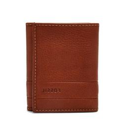 Fossil Men's Lufkin Trifold Leather Wallet Medium Brown