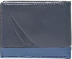 NAUTICA MEN'S PASSCASE BIFOLD WALLET ID HOLDER NEW WITH TIN