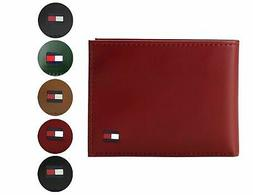 Tommy Hilfiger Men's Premium Leather Credit Card ID Wallet P