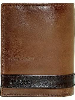 Fossil Men's Quinn Trifold Leather Wallet