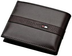 Tommy Hilfiger Mens Leather Bifold Wallet with Removal Card