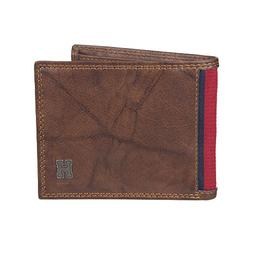Tommy Hilfiger Men's RFID Blocking Leather Extra Capacity Tr