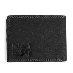 Timberland PRO Men's Slim Leather RFID Bifold Wallet with Ba