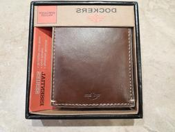 Dockers Men's Slimfold Wallet with Coin Pocket, Tan, One Siz