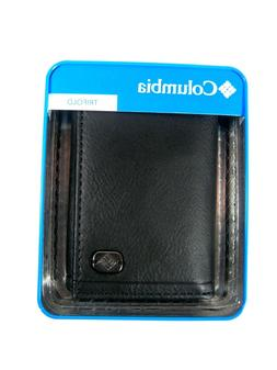 Columbia Men's Trifold Leather Wallet Black 31CP1172