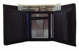 Men's Trifold Wallet Nylon Velco Closure Canvas All Colors N