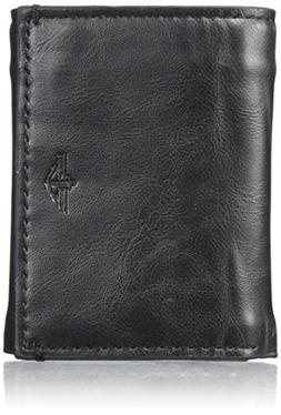 Dockers Men's Trifold Wallet with Interior Zipper, black, On