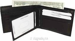 Men's wallet 2-in-1 Leather Bifold Wallet 9 Card Spaces 2 ID