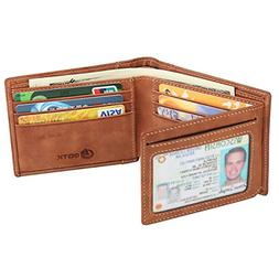 men s wallet rfid blocking cowhide leather