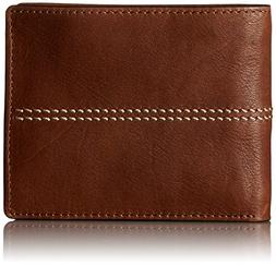 Fossil® Men's Turk Leather RFID Bifold with Flip ID Wall