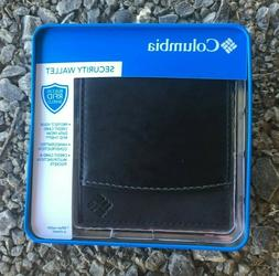 Columbia Mens Bifold Leather Security Wallet RFID Passcase B