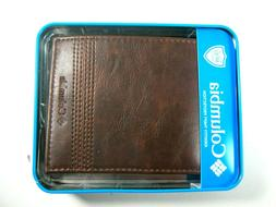 Columbia Mens Bifold Leather Wallet Brown 31CP2200Z03 RFID S
