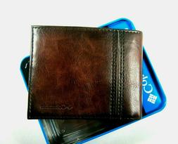 Columbia Mens Bifold Leather Wallet Brown 31CP2200Z04 RFID S