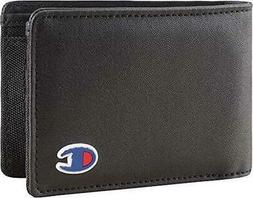 MENS CHAMPION BLACK RED BIFOLD WALLET WITH ORIGINAL GIFT BOX