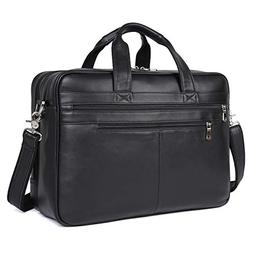 Texbo Mens Large Leather Briefcase Shoulder Messenger Bag Fi