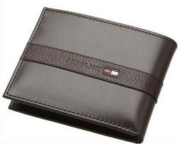 Tommy Hilfiger Mens Leather Credit Card Wallet Bifold Organi