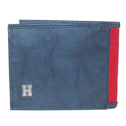 Tommy Hilfiger Mens Leather Traveler Passcase Bifold Wallet,